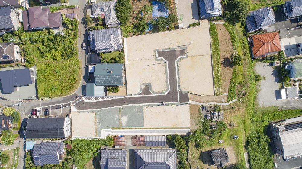 分譲地の上から見た図です