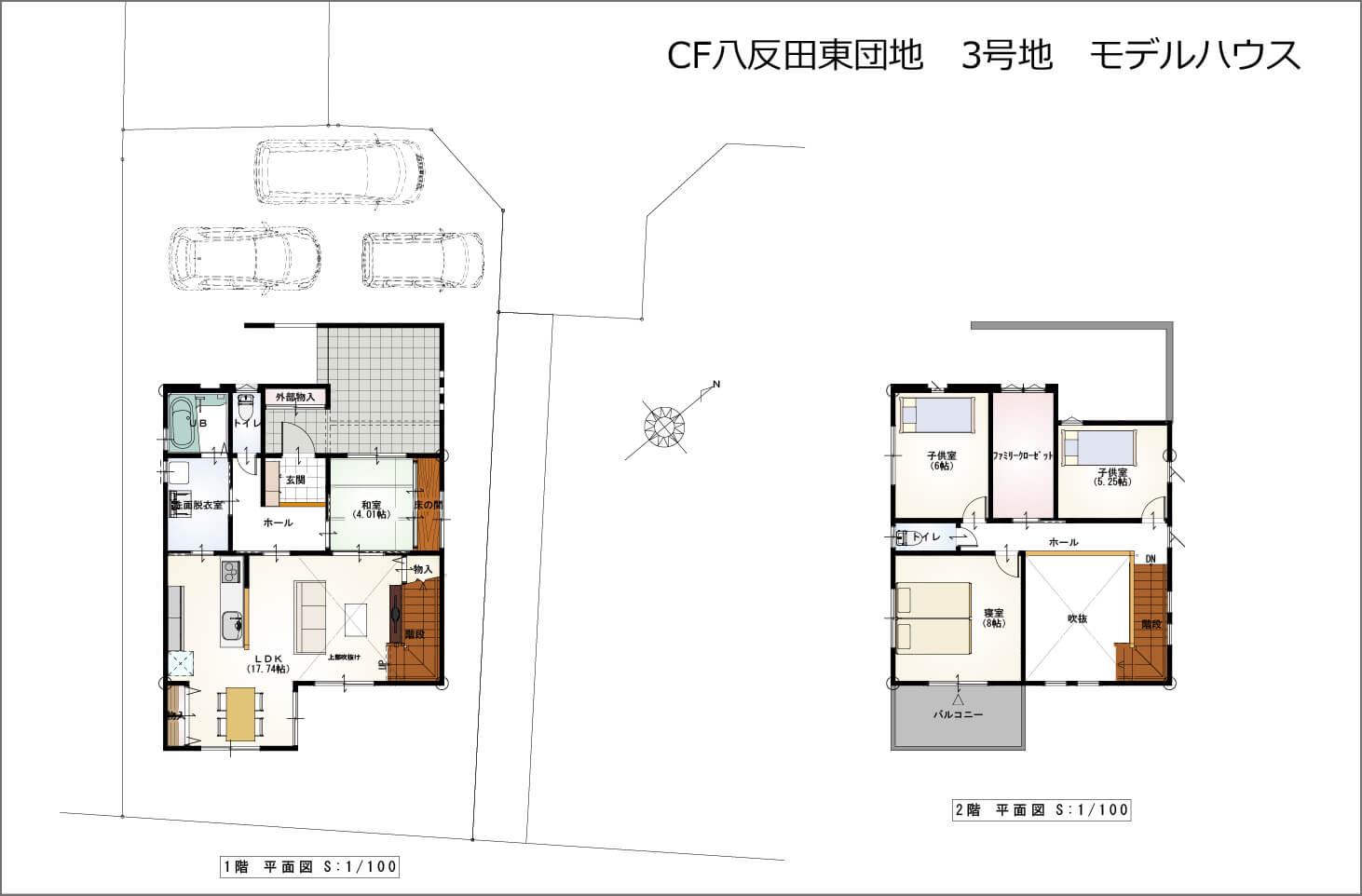 クレアフォート八反田東6号地 間取り図